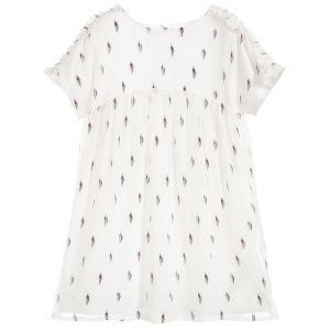 Carrément Beau Girl's Ivory Silk Chiffon Dress