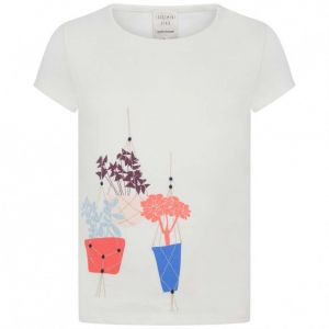 Carrément Beau Ivory T-Shirt With Hanging Basket Print