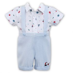 Sarah Louise Dani Boys Nautical Dungaree Set