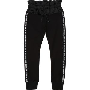 DKNY Black Jersey & Satin Trousers