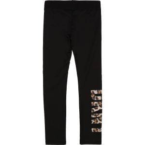DKNY Black Leopard Logo Leggings