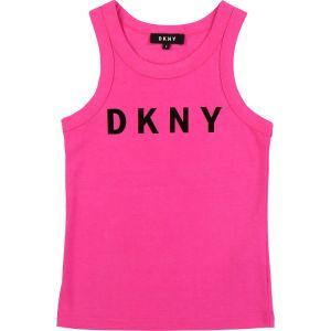 DKNY Deep Pink Cotton Vest Top