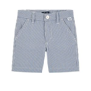 Il Gufo Boys Blue and White Checked Shorts