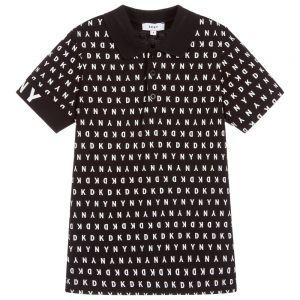 DKNY Boys Black Polo Shirt