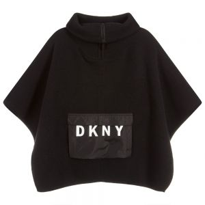 DKNY Girls Black Knitted Cape