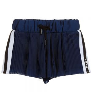 DKNY Girls Blue Pleated Shorts
