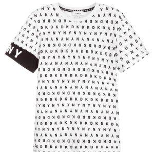 DKNY White & Black Logo T-Shirt