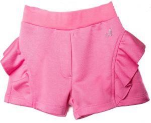 Monnalisa Girls Pink Cotton Frill Shorts