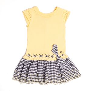 Paz Rodriguez Girls Lemon Grey Dress