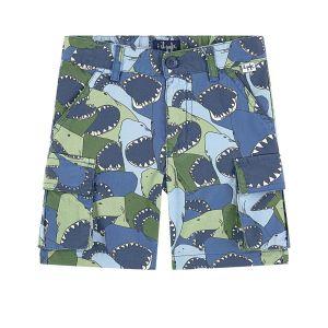 Il Gufo Boys Cotton Shark Shorts