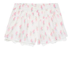 3Pommes Girls White Crêpe Lollipop Shorts