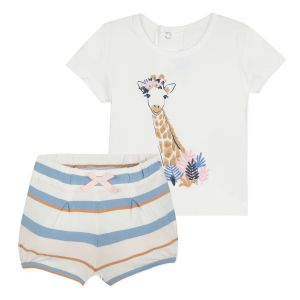 Absorba Baby Girl's Giraffe Short and T-Shirt Set
