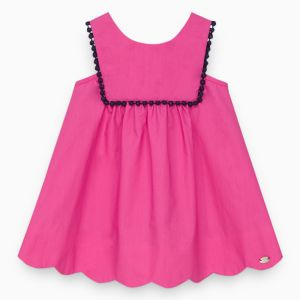 Tartine et Chocolat Fuchsia Sleeveless Bib Dress