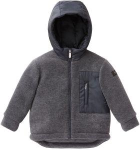 Il Gufo Grey and Navy Fleece Technical Jacket