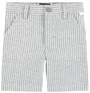 Il Gufo Boys Grey Striped Linen Shorts