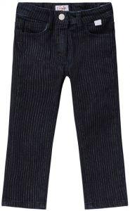Il Gufo Girls Pinstripe and Lurex Blue Denim Jeans