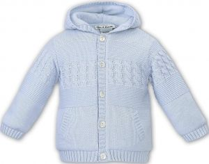 Sarah Louise Boys Blue Cable Knitted Jacket