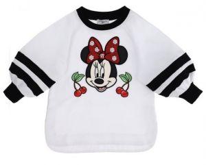 Monnalisa White Cotton Disney Sweatshirt
