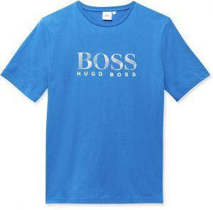 BOSS Kidswear Cobalt Blue Cotton Logo T-Shirt