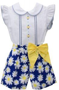 Pretty Originals Girls Daisy Blouse and Shorts Set