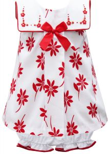 Pretty Originals White & Red Dress Set
