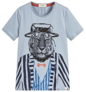 Billybandit Boy's Blue Tiger T-Shirt