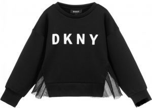 DKNY Black Mesh Back Sweatshirt