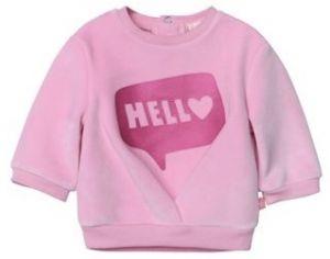 Billieblush Pink Velour Hello Sweatshirt