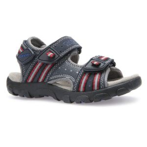 Geox Boy's Strada Navy and Red Sandal