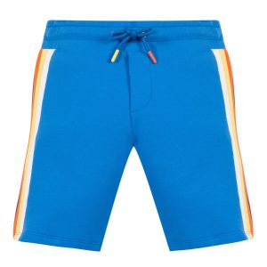 Paul Smith Junior Boys Blue 'Ako' Cotton Jersey Shorts