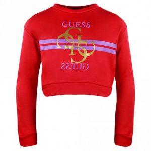 GUESS Red Cropped Logo Sweatshirt