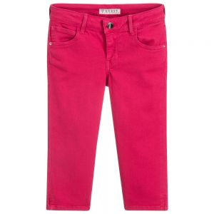 Guess Girl's Scented Pink Capri Jeans