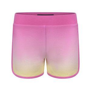 Guess Girls Pink Heart Logo Cotton Shorts
