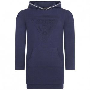 GUESS Navy Hooded Sweatshirt Logo Dress