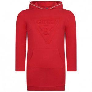 GUESS RED Hooded Sweatshirt Logo Dress
