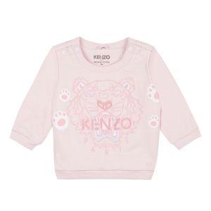 KENZO KIDS Pale Pink Iconic Tiger Sweatshirt
