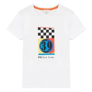 Paul Smith Junior Boys White 'Aric' Cotton T-Shirt