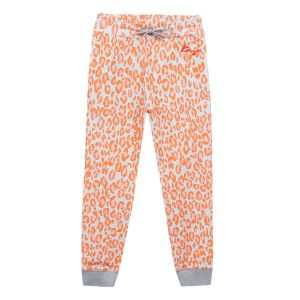 Kenzo Kids Girls Cotton Orange Leopard Print  Joggers