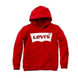Levi's Boys Red Hooded Logo Sweatshirt