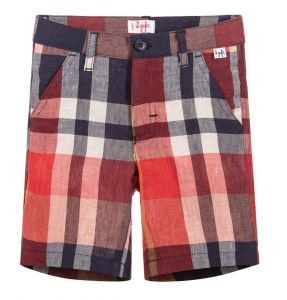 IL Gufo Boy's Chequered  Bermuda Shorts