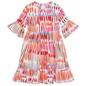 IL Gufo Girl's Multicolour Print Dress