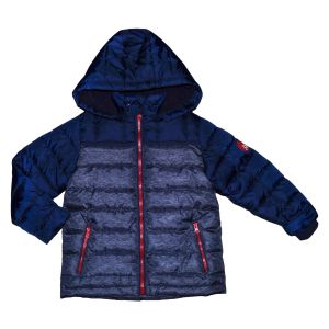 3Pommes Navy and Red  Padded Coat