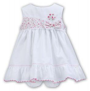 Sarah Louise Baby Girl's Floral Dress and Pant Set