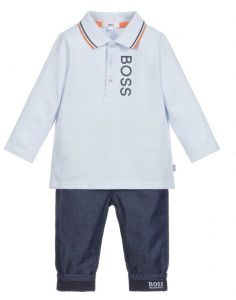 BOSS Kidswear Baby Boys Polo and Jean Gift Set