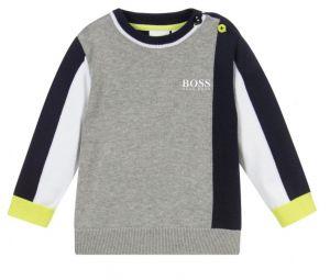 BOSS Kidswear Blue & Grey Cotton Sweater