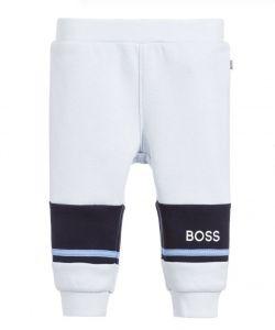 BOSS Kidswear Pale Blue Cotton Baby Joggers
