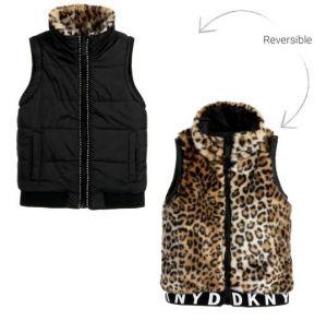 DKNY Faux Fur Reversible Gilet