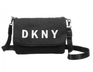 DKNY Black Logo Bag & Pouch (23cm)