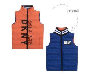 DKNY Blue Reversible Puffer Gilet