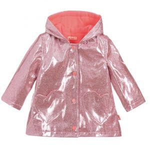 Billieblush Girls Pink Glitter Raincoat
